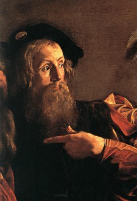 The calling of St. Matthew. Fragment