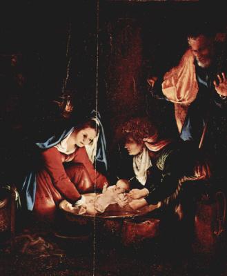 Лоренцо Лотто. Рождество Христово