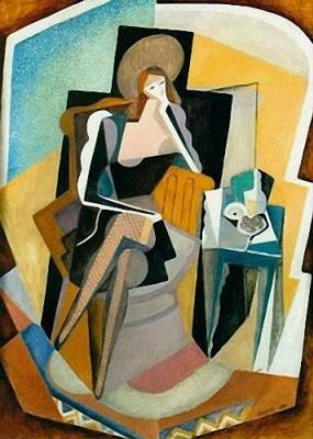 Maria Bronislavovna Marevna (Vorobyeva-Stebelskaya). Self-portrait with still life