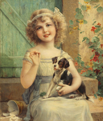 Emile Vernon. Waiting for the vet. 1919
