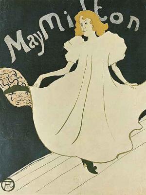 """Henri de Toulouse-Lautrec. Poster """"May Milton"""""""