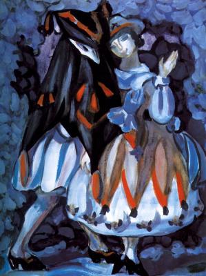 Sergey Yurevich Sudeikin. Venetian doll. Fragment