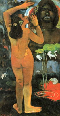 Paul Gauguin. Hina, moon goddess and Te Fatu, the earth spirit