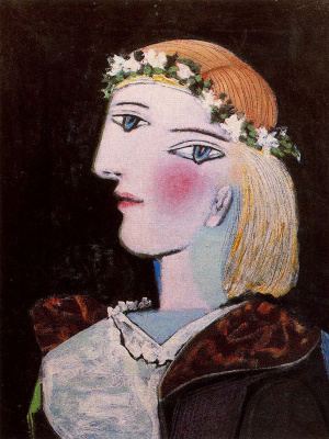 Pablo Picasso. Portrait of Marie-thérèse Walter with garland