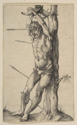 Albrecht Durer. St. Sebastian at the tree