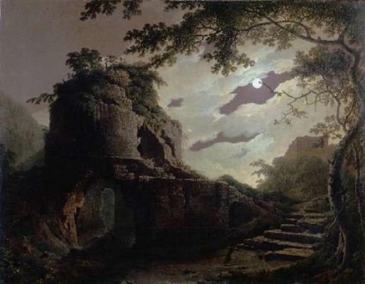 Joseph Wright. The full moon