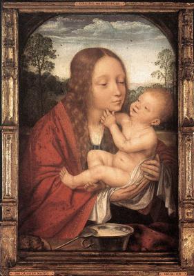 Квентин Массейс. Пейзаже с девой и младенцем