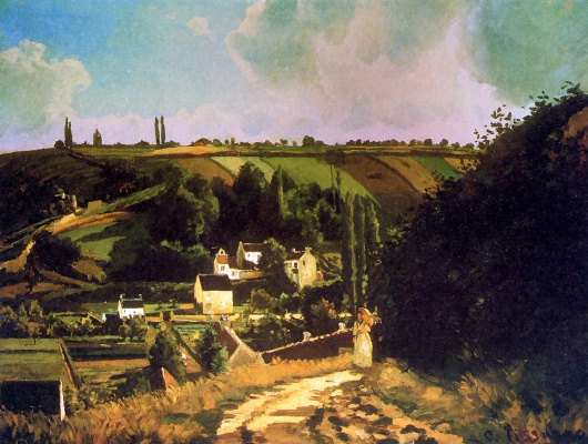 Camille Pissarro. Hill the Thorn in PONTOISE