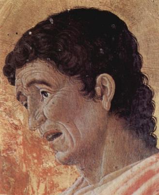 Andrea Mantegna. The St. Luke's altar, detail: St. John the Evangelist