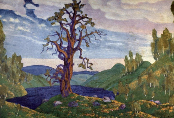 "Nicholas Roerich. Kiss The Earth. Sketch for the ballet ""Spring sacred"" by I. Stravinsky"