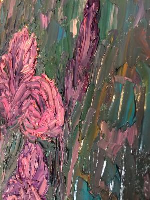 Victoria Valentinovna Zachkova. Night. Irises.