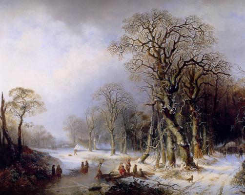 Фредерик Хендрикс. Зимний пейзаж