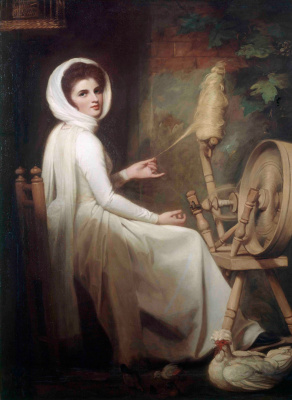 George Romney. Emma Hamilton in the image of spinner