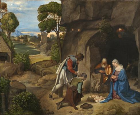 Giorgione. Shepherds worship
