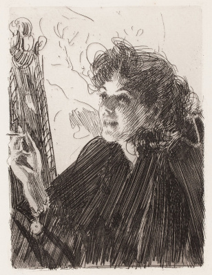 Anders Zorn. A girl with a cigarette