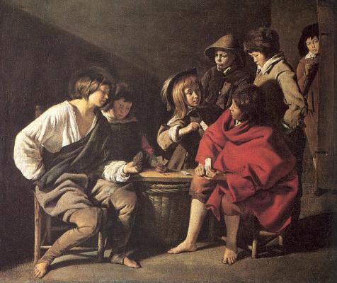 Братья Найн. Дети, играющие в карты