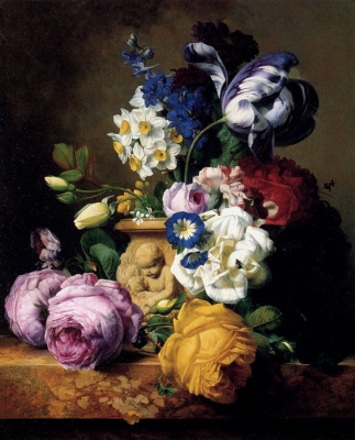 Ferdinand Georg Waldmüller. A bouquet of flowers
