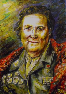 Владимир Иванович Осипов. Elena Mironovna Kuhnyuk, Hero Of Socialist.Labor, 1943.© 2018.