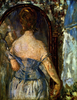 Edouard Manet. In front of the mirror