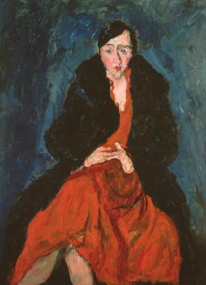 Haim Solomonovich Soutine. Portrait Of Madeleine Kastin