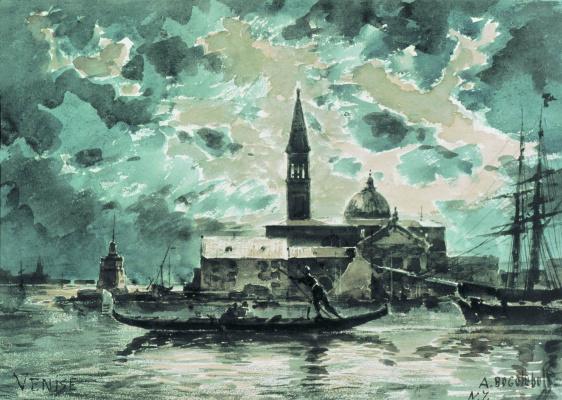 Alexey Petrovich Bogolyubov. Venice. 1872