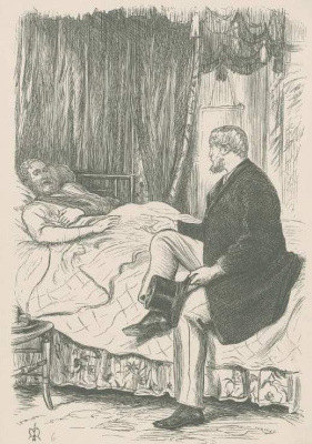 """Джон Эверетт Милле. """"Вы, ирландцы, всегда быстро ездите..."""". Иллюстрация для журнала """"Сент-Пол"""""""