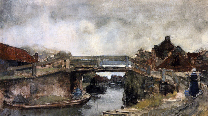 Willem Maris. Bridge