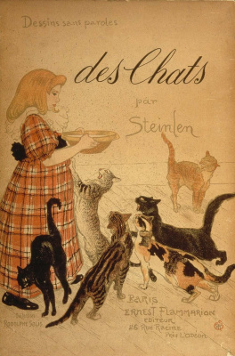 Theophile-Alexander Steinlen. Cats: pictures without words.