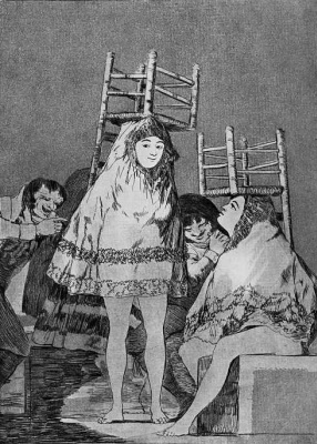 """Francisco Goya. """"They already have a seat"""" (Series """"Caprichos"""", page 26)"""