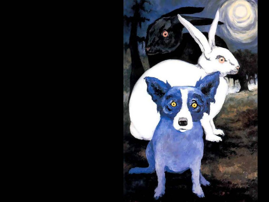 George Rodrigue. Blue собака014