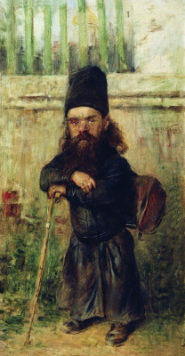 Konstantin Makovsky. Monk - tax collector in the temple