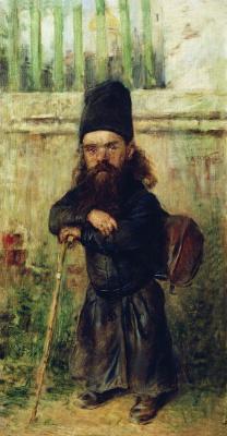 Константин Егорович Маковский. Монах - сборщик податей на храм