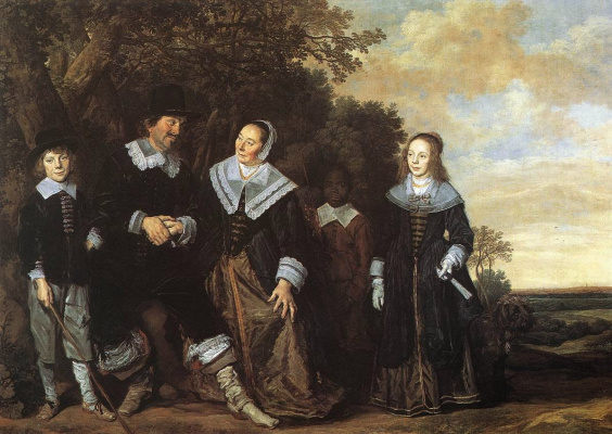France Hals. Family portrait in a landscape