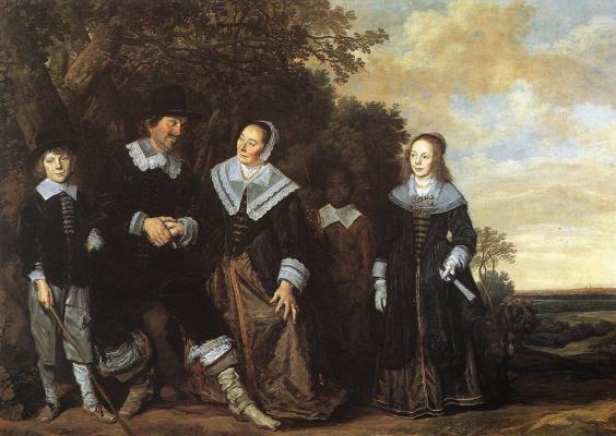 France Hals. Family portrait in a landscape