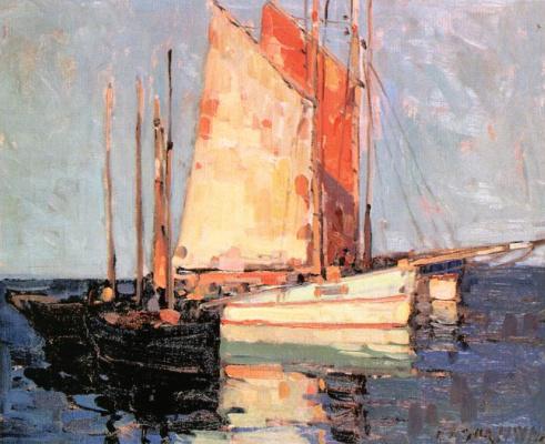 Эдгар Пейн. Лодки на якоре