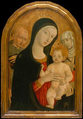 Маттео ди Джованни. Мадонна с младенцем со святыми Франциском и Екатериной Сиенской