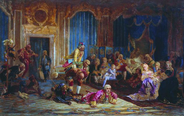 Валерий Иванович Якоби. Утро императрицы Анны Иоанновны. 1872