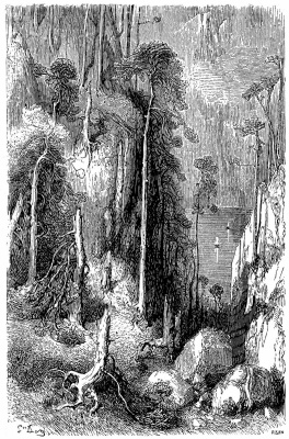 Paul Gustave Dore. Illustration for Ten's Journey to the Pyrenees