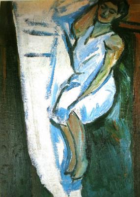 Михаил Федорович Ларионов. «Портрет Наталии Гончаровой» 1910