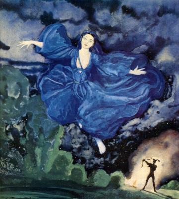 Constantin Somov. Blue bird