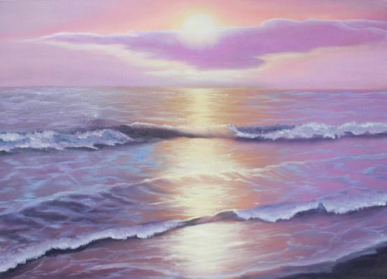 Vera Alexandrovna Kholmogorova. Dawn at the Sea