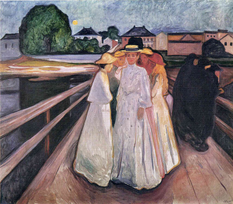 Edvard Munch. Ladies on the bridge