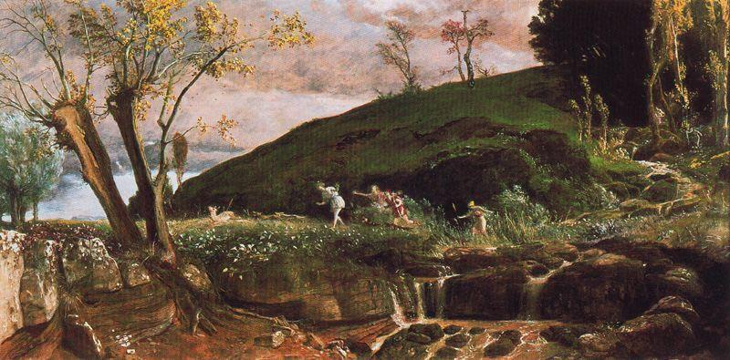 Arnold Böcklin. Hunting Diana