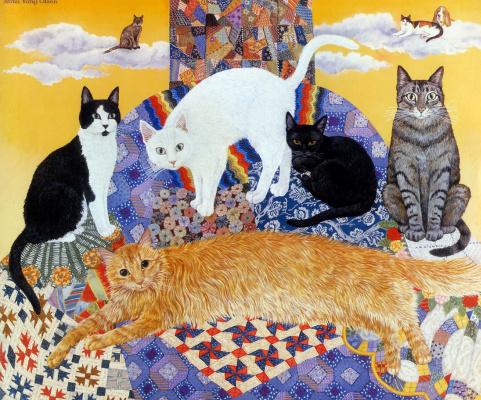 Мими Ванг Олсен. Коты в сборе
