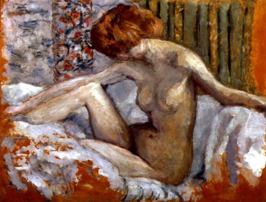 Pierre Bonnard. Nude in bed