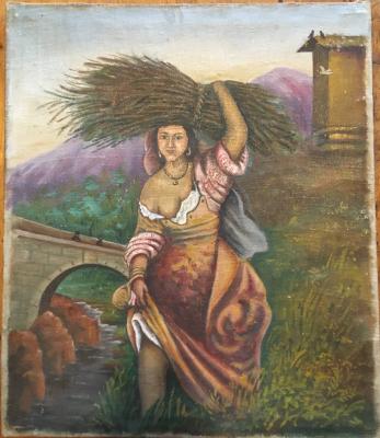NoNoName. Greek girl, Crimea, Kuindzhi motifs 1850-1900.