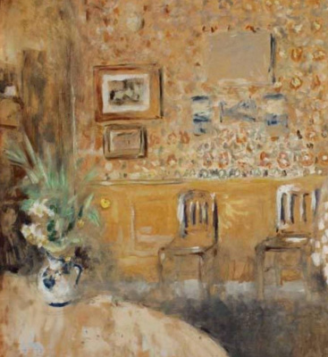 Jean Edouard Vuillard. Dining room. Interior with two chairs. Fragment 1