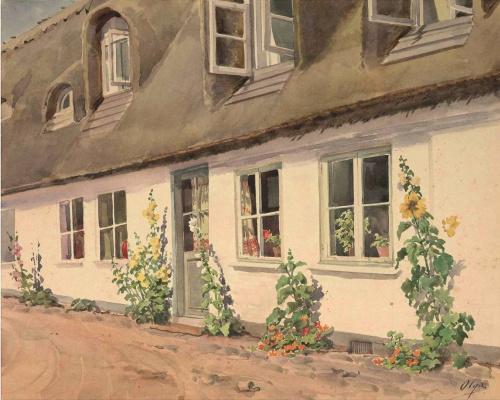 Olga Alexandrovna Romanova. Farmhouse in Denmark