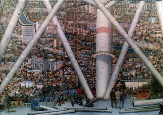 Андрей Владимирович Хан. Панорама Тбилиси Строительство Фуникулер