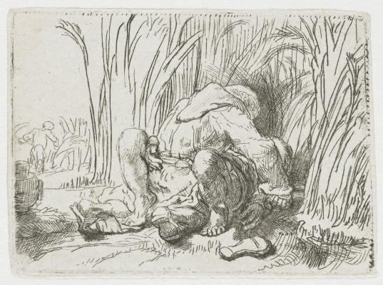 Рембрандт Харменс ван Рейн. Монах на кукурузном поле